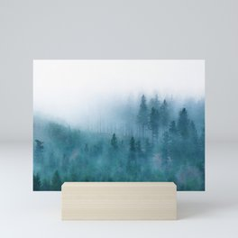 Foggy forest watercolor painting #1 Mini Art Print