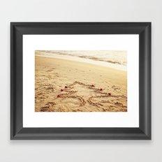 Merry Christmas! - Christmas at the beach Framed Art Print