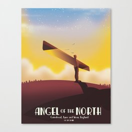 Angel of the North Travel poster. Canvas Print