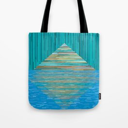 Mountain Lake Abstract Tote Bag