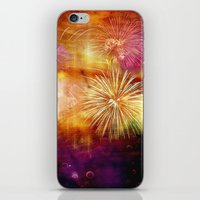 fireworks iPhone & iPod Skins featuring fireworks by haroulita