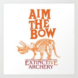 "AIM THE BOW - EXTINCT""IVE"" ARCHERY / 70s RETRO Art Print"