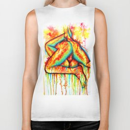 Holy Fuck - Erotic Art Illustration Nude Sex Sexual Love Lovers Relationship Couple Mature Colorful Biker Tank