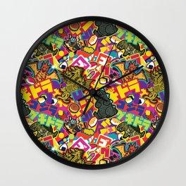 Kaiju Graffiti Wall Clock