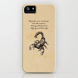 Friedrich Nietzsche - The Scorpion iPhone Case