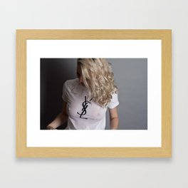 Wet YSL Framed Art Print