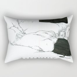 NUDEGRAFIA - 59  love Rectangular Pillow