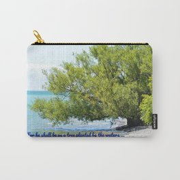 Tree By The Water With Scripture Quote Carry-All Pouch