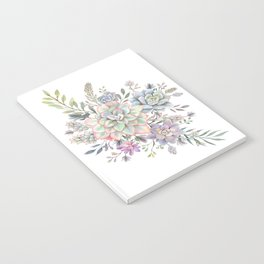 succulent watercolor 8 Notebook