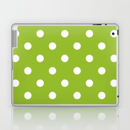Apple green dotted seamless pattern Laptop & iPad Skin