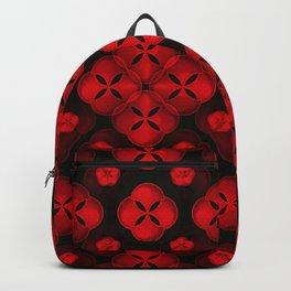 Red Ornaments Black Background #decor #society6 #buyart Backpack