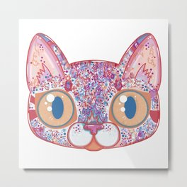 Chromatic Cat I Metal Print