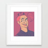 crowley Framed Art Prints featuring Crowley by The Art of Nicole