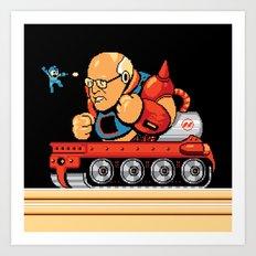 Megaman vs Dick Cheney Art Print