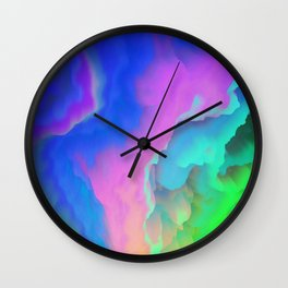 Color Clouds 001 Wall Clock