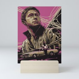 Drive Stuntman Mechanic Ryan Gosling Mini Art Print