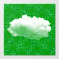 cloud Canvas Prints featuring Cloud by Mr and Mrs Quirynen