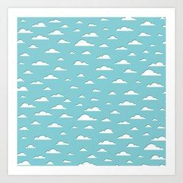 Fluffy Clouds (geometric pattern) Art Print