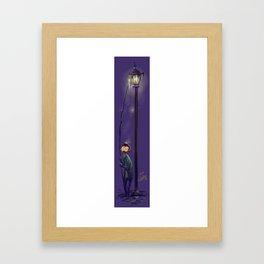 The lamplighter Framed Art Print