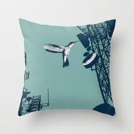 communication bird Throw Pillow