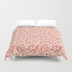 coral pink coral pattern Duvet Cover