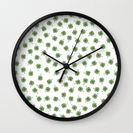 Light Green Clover Wall Clock