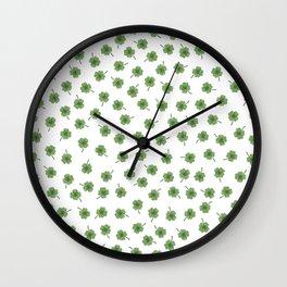 Light Green Clover Wall Clock