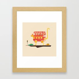 PICADILLY CAT  Framed Art Print