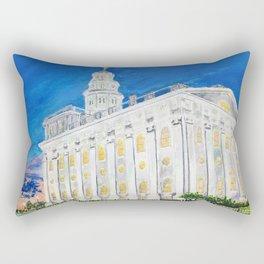 Nauvoo Illinois LDS Temple Rectangular Pillow