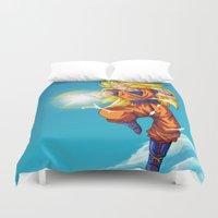 goku Duvet Covers featuring Goku SS3 by WaXaVeJu