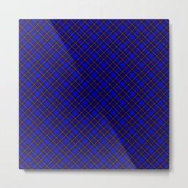 Scottish Fabric Blue High Resolution Metal Print
