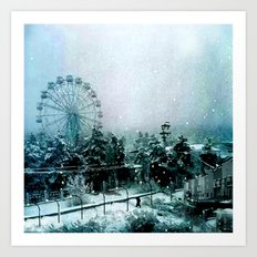 Cold Forest Playground Art Print