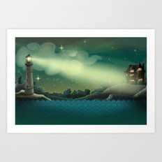 Sea landscape Art Print