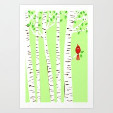 Spring Cardinal Wall Art Art Print