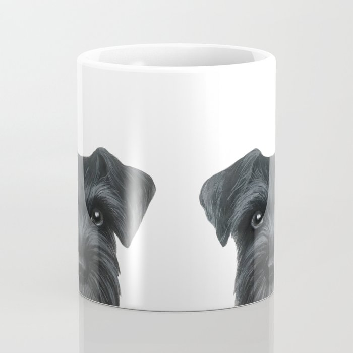 Black Schnauzer, Dog illustration original painting print Coffee Mug