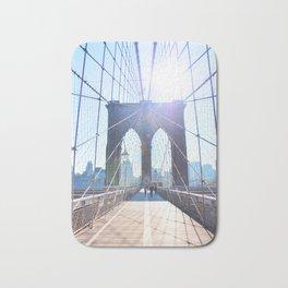 303. Sunny Brooklyn Bridge, New York Bath Mat