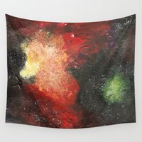 cosmic Wall Tapestries featuring Cosmic by Bleriot