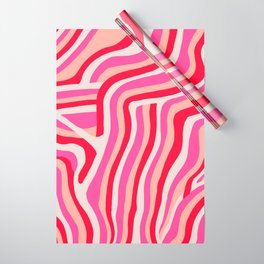 pink zebra stripes Wrapping Paper
