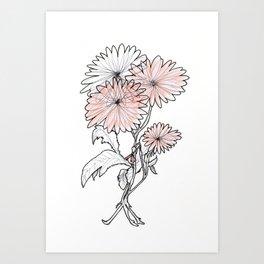 flower illustration Art Print