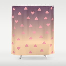 heart pattern Shower Curtain