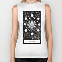 tarot Biker Tanks featuring Star Tarot by Corinne Elyse