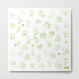 Tokyo Mitaka-City Metal Print