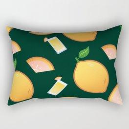 Lemon-Black Rectangular Pillow