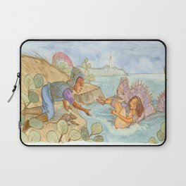 The Doll in the Grass Laptop Sleeve