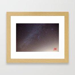 Stars over Mount Laguna Framed Art Print