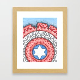 Captain (Star of David) America Framed Art Print