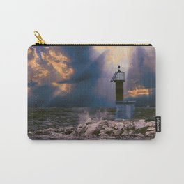 Light House in storm Carry-All Pouch