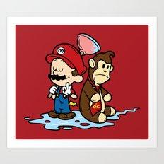 Mario and Kong Art Print