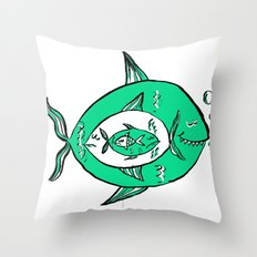 It's a big fish kind of world! Throw Pillow