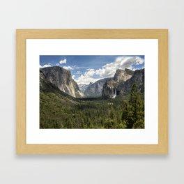 Tunnel View - Yosemite National Park Framed Art Print